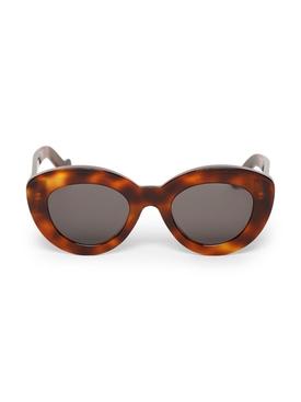 Tortoiseshell Effect Cat-eye Sunglasses Havana Brown