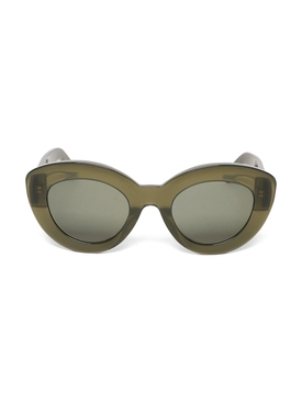 Butterfly Anagram Fitted Sunglasses Dark Green
