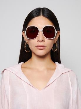 Round Acetate Sunglasses Milky Ivory
