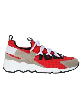 Red Trek Comet Lace-Up Sneakers
