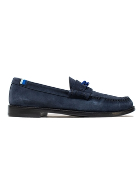 LA CATENA COLLEGE NAVY BLUE SUEDE LOAFERS