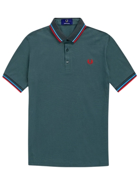 Classic logo polo shirt DEEP BOTTLE GREEN