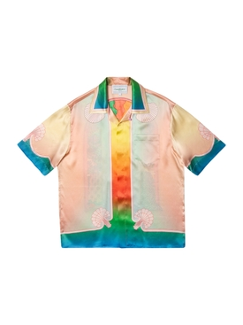 Silk Short Sleeve Printed Shirt Lucid Dreams