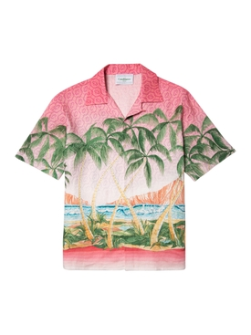 Silk Short Sleeve Printed Shirt Rose A Maui  Linen