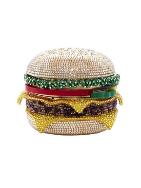 Judith Leiber - Embellished Hamburger Box Clutch - Women
