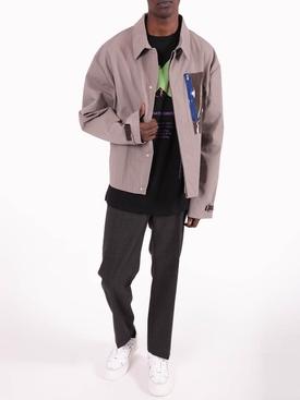 Sand PVC Pocket Jacket