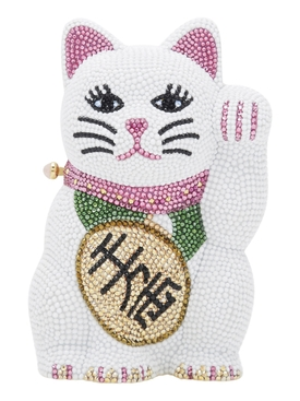 Beckoning Lucky Cat Crystal Clutch