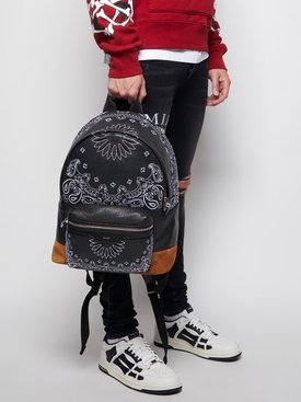BANDANA CLASSIC LEATHER BACKPACK Black and Cognac