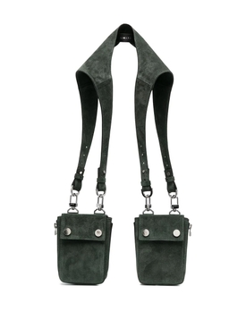 Military Green Suede Harness bag