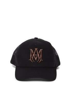 CLASSIC LOGO TRUCKER HAT BLACK AND BROWN