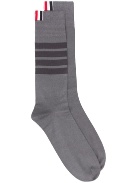 Medium Grey 4-Bar Stripe Socks