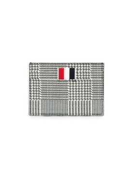 BLACK AND WHITE CHECK CARDHOLDER