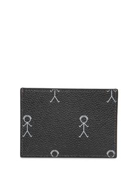 Mr.Thom Icon Print Single Card Holder Dark Grey