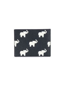 Elephant print billfold wallet