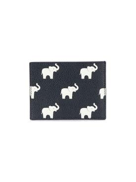 Elephant print billfold wallet