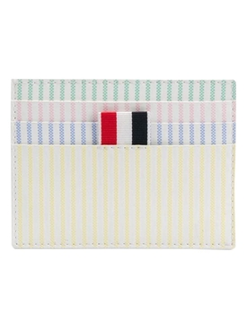 Thom Browne - Pastel Multicolored Stripe Card Case - Women
