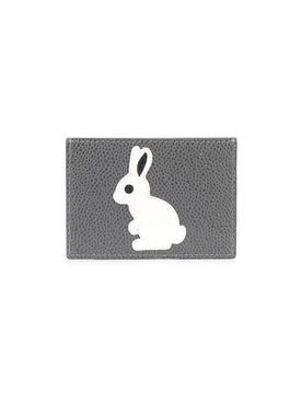 GREY Bunny applique credit card holder