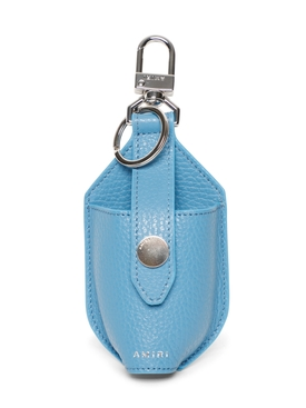 LEATHER HAND SANITIZER POUCH CAROLINA BLUE