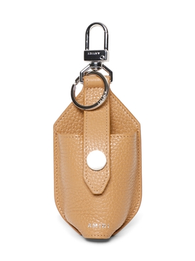LEATHER HAND SANITIZER POUCH OATMEAL