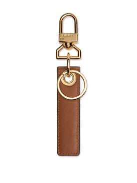 Nappa Tag Keychain Brown