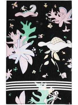 Hawaiian Print 4 Bar Beach Towel
