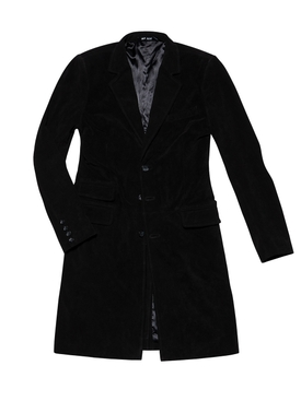 LEATHER COAT 72, Black Suede