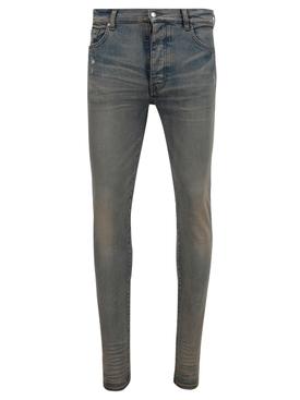stack skinny jean, clay indigo