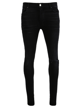 Black Slit Knee Jean