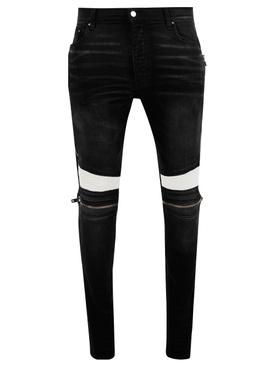 Antique Black MX2 White Leather Repair Jean