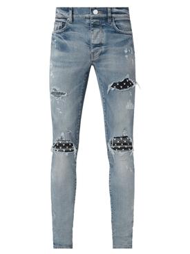 MX1 Leather Playboy Jean Indigo Blue