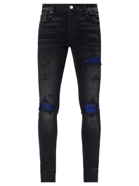 Plaid MX1 Jeans Aged Black And Blue