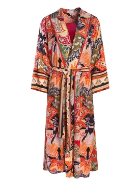 DAMPA WRAP ROBE DRESS