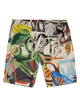 X David Salle Meier Shorts Diving