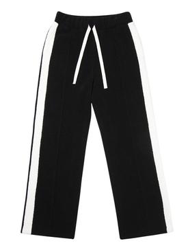 Side stripe detail track pants BLACK