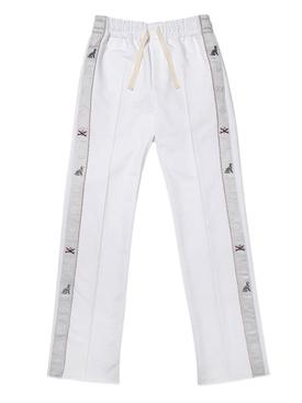 Side stripe detail track pants WHITE
