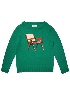 Green Art of sitting sweater