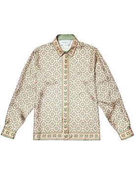 Silk printed long sleeve shirt LAUREL MONOGRAM LIGHT