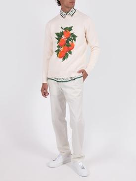 Silk printed long sleeve shirt LA FLEUR DE LORANGER