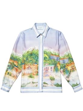 Silk printed long sleeve shirt BROUILLARD SUR LE LAC