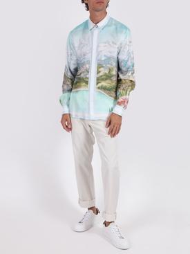 Silk printed long sleeve shirt DALMATIAN A LA MONTAGNE