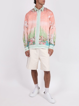 Silk printed long sleeve shirt MAISON DE REPOS
