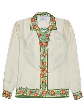 Silk printed button down shirt PLEIADES DORANGES