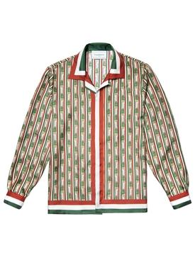 Silk printed button down shirt ITALIA COLUMNS