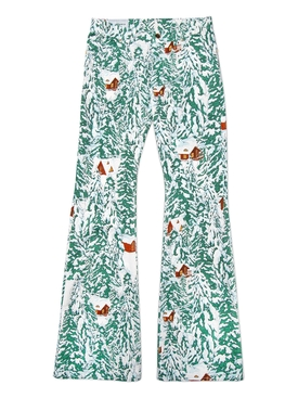Printed cotton denim jeans CHALET