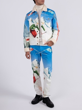 Printed cotton denim jeans HORS PISTE