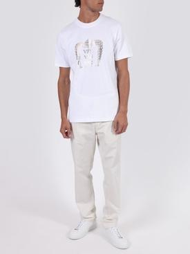 Printed cotton t-shirt WHITE VENI VIDI VICI