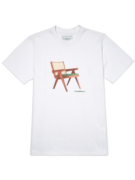 Printed cotton t-shirt WHITE THE ART OF SITTING