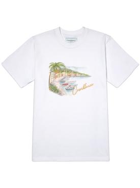 Printed cotton t-shirt WHITE LAGO DI CASA