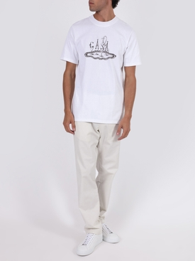 Printed cotton t-shirt WHITE SERVICE