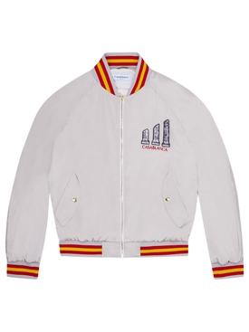 Embroidered Souvenir Jacket Grey